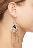 edit - Aztec Fringe Earrings Gold
