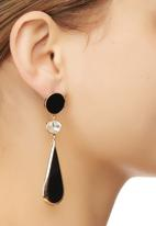 edit - Teardrop Earrings Black