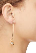 STYLE REPUBLIC - Ball on Bar Earrings Gold