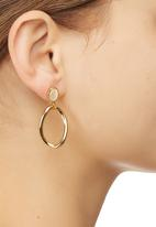 edit - Smooth Curved Teardrop Earrings Gold