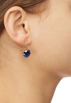 edit - Vintage-style Drop Earrings Mid Blue