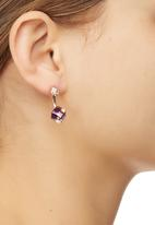 STYLE REPUBLIC - Faceted Cube Earrings Clear