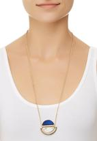 c(inch) - Marble-effect Circular Necklace Gold