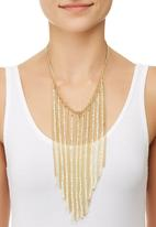 edit - Tassel Bib Necklace Gold