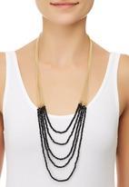 edit - Longline Multi-Strand Bead Necklace Black