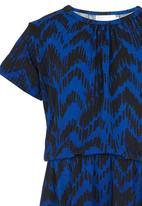 See-Saw - Short Sleeve Jersey Dress Blue
