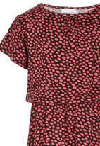 See-Saw - Short Sleeve Jersey Dress Dark Pink