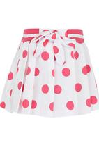 POP CANDY - Polka-dot Pleated Skirt Mid Pink