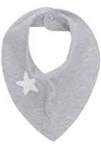 Luke & Lola - Printed Triangle Bib Grey Melange