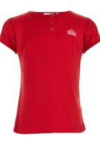 POP CANDY - Top with Front Yoke Red