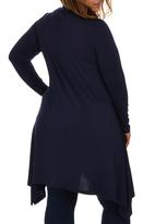 edit Plus - High-Neck Swing Dress Navy