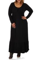 edit Plus - Boho Maxi Dress Black