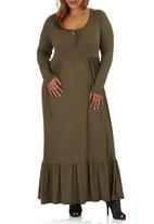 edit Plus - Boho Maxi Dress Mid Green