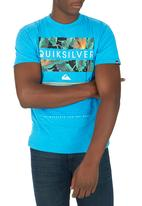 Quiksilver - Line Up Tee Mid Blue