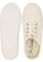 SOVIET - Anglaise Lace-Up Shoes White