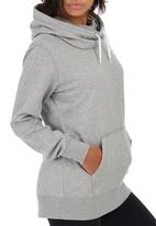 Nike - Nike Club Funnel Hoody Grey