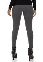 c(inch) - Plain Leggings Dark Grey