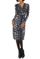 Slick - Ella Wrap Front Dress Animal Print