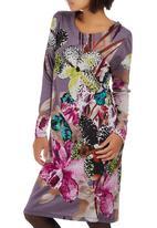 Slick - Sophia Shift Dress Mid Purple