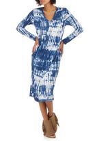 Slick - Gwen Side Drape Dress Navy
