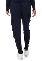 Slick - Christa Side Drape Pants Navy