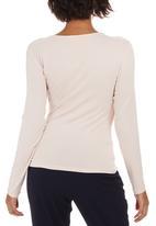 edit - Long Sleeve Wrap T-shirt Pale Pink