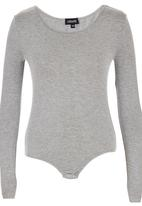 c(inch) - Long Sleeve Fitted Bodysuit Mid Grey