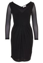ELIGERE - V-neck Cocktail Dress Black