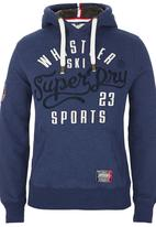 Superdry. - Logo Applique Hoody Navy