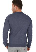 Superdry. - Tracskter Crew Sweater Blue