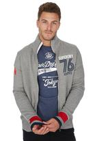 Superdry. - Tri-State Zip Through Grey