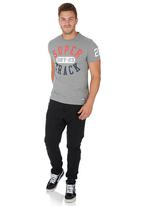 Superdry. - Trackster Short-Sleeve Tee Dark Grey