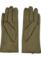 STYLE REPUBLIC - Quilted Gloves Dark Green