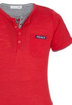 POP CANDY - Henley T-shirt Red