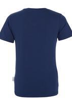 POP CANDY - Printed V-neck T-shirt Mid Blue