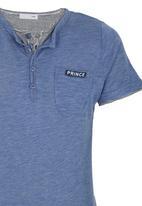 POP CANDY - Henley T-shirt Mid Blue