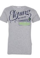 POP CANDY - Printed V-neck T-shirt Grey