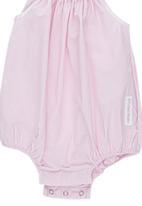 Tic Tac Toe - Pink Pinstripe Dungaree Pale Pink