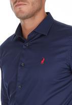 POLO - Custom fit Greig shirt - navy