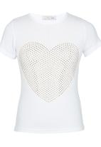 POP CANDY - Heart Top White