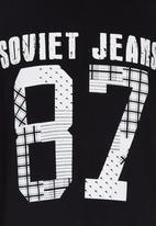 SOVIET - Short Sleeve Printed Tee Black