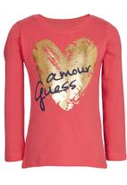 GUESS - Glitter Tee Red
