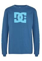 DC - Long Sleeve Star Standard  Tee Mid Blue