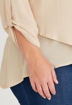 edit Plus - Layered Shirt Beige