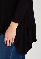 edit Plus - Handkerchief Hemline Top Black