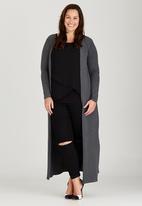 edit Plus - Maxi Length Cardigan Dark Grey