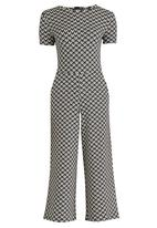 STYLE REPUBLIC - Easy Fit Jumpsuit Black and White