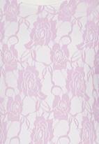 Rebel Republic - Lace Long Sleeve Top Pale Purple