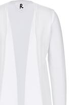 Rebel Republic - Jersey Open Front Cardigan White