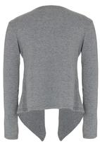 Rebel Republic - Jersey Open Front Cardigan Grey